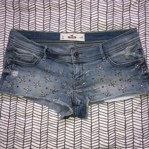 Hollister Pants - Hollister Jean Shorts Studded